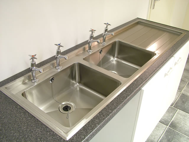Double Drainer Sink : ... >> Stainless Steel Catering Equipment > Double Bowl Inset Sink Tops