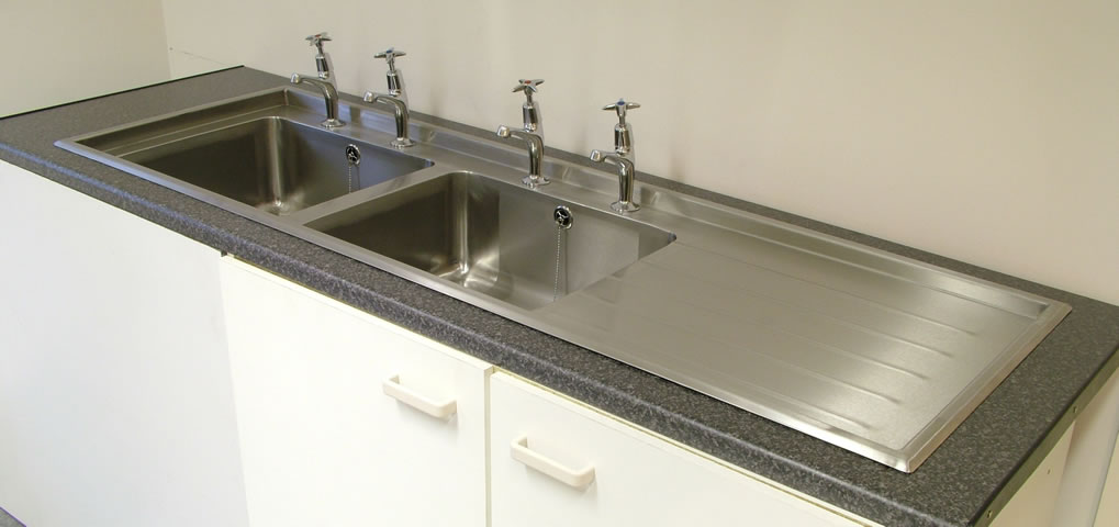 Stainless Design Services Ltd Double Bowl Inset Sink Tops