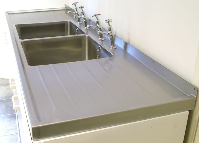Stainless Steel Sink Tops : ... >> Stainless Steel Catering Equipment > Double Bowl Sit on Sink ...
