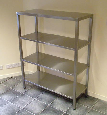 floor standing shelving unit
