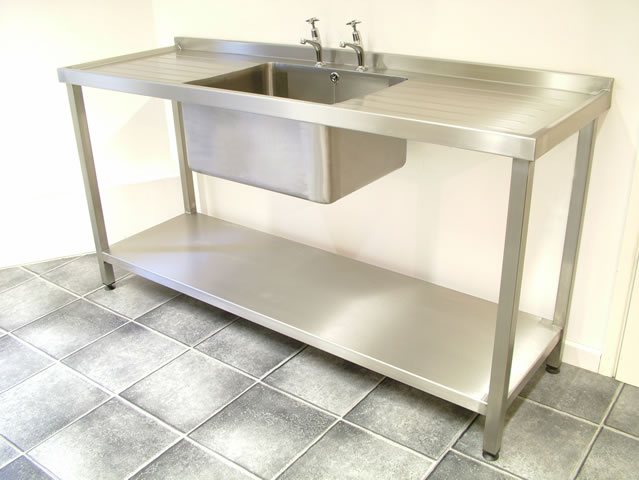 ... Single Bowl Catering Sink Unit With Double Drainers ...