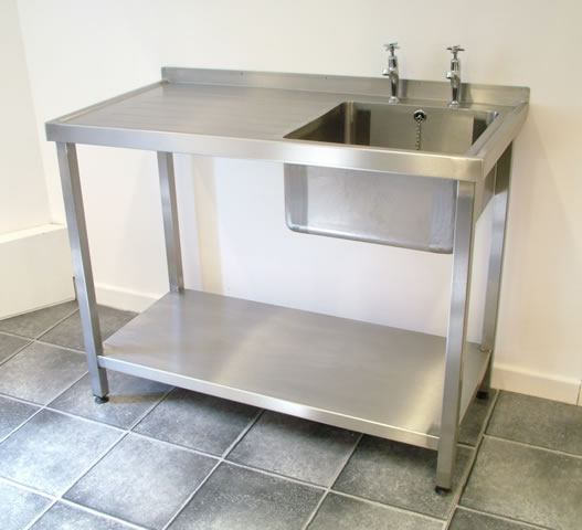 Single Bowl Catering Sink Units With Frames
