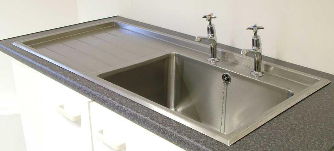 Stainless Steel Sink Tops : ... >> Stainless Steel Catering Equipment > Single Bowl Inset Sink Tops